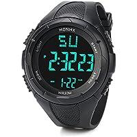笑え熊 腕時計 クオーツ BF-782 日常防水 デジタル 運動スタイル アウトドア メンズ シリコン