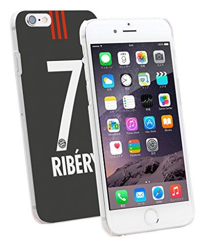 00811 - フランクリベリー : バイエルンミュンヘン ブラック デザイン 【平日:翌営業日発送・土日注文:月曜日・連休日:業務開始日発送+液晶保護フィルム1枚プレゼント】 iPhone5 5S SE 6 6S Plus Xperia Z3 Z4 Z5 X PERFORMANCE GALAXY S5 S6 S7 Edge スマホケース (iPhone 6 /6S) [並行輸入品]