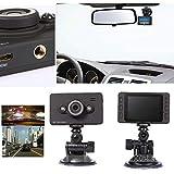 車載DVRダッシュカム、車載DVRカメラビデオレコーダー、2.7インチフルHD 1080P車載DVR IR LEDナイトビジョンカーカメラレコーダーGセンサー、車載DVRダッシュカム、車載DVRカメラビデオレコーダー。 Free Size ブラック DICPOLIA---dash cam...