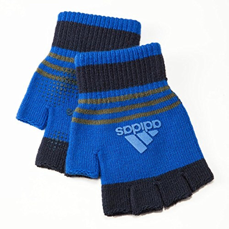 (アディダス) adidas キッズ ボーイズ 指切り スポーツ手袋 すべり止め付 のびのびニット 指無しタイプ 日本製 正規サブライセンス商品