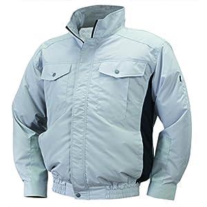 NSP 空調服 服単体 NA-111 シルバー/チャコール チタンコーティング 立ち襟 肩・袖補強あり サイズ2L 8209448
