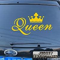 クイーンクラウンゴールドシルバーホワイトブラックデカールステッカー車ビニールPickサイズカラーDie Cut 28'' (71.1cm) ブラック 20180301s5