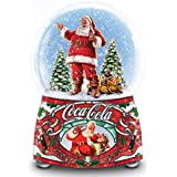 Coca ColaサンタMusical Glitter GlobeライトUp and Plays Jingle Bells by the Bradford Exchange
