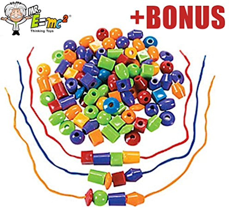 30 Lacingや糸ビーズセット – モンテッソーリ数学Preschool Toys for fineモータースキル、ot、自閉症