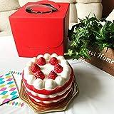 【食品模型エスエヌエス】一生思い出に残る スクイーズ ケーキ ケーキ屋さんのBOXにメッセージカード付き 誕生日 クリスマス バレンタイン ホワイトデー プレゼント サプライズに♪ 食べ物ではないので注意!