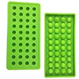 Mydio 40 Tray Mini Ice Ball Molds DIY Molds Tool for Candy pudding jelly milk juice Chocolate mold or Cocktails & whiskey particles,green