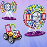 92pcs Magnetic Kit Ferris Wheel Car Toys [並行輸入品]