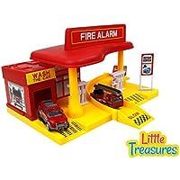 Little Treasures Super Service Fire Station fire alarm emergency rush toy set [並行輸入品]