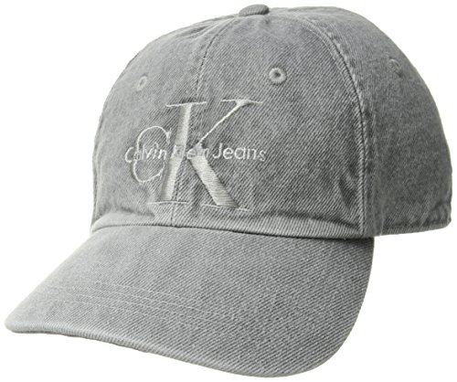 Calvin Klein Jeans(カルバンクライン ジーンズ)デニム スナップバック キャップ エレクトロニックグレー STRUCTURE FRONT LOGO DAD HAT-WASH DENIM CAP 41HH914 ELECTRONIC GREY 831