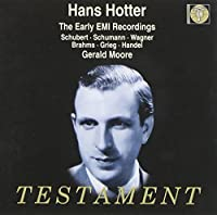 Hans Hotter: The Early EMI Recordings by Hans Hotter (2000-11-21)