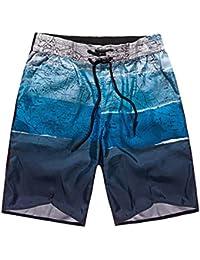 ZCL メンズ ビーチパンツ 水着 サーフパンツ サーフトランクス 海水パンツ 海パン ショートパンツ ハーフパンツ 通気 速乾 水陸両用 海水浴 ビーチウェア
