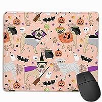 ハロウィンコスチューム - コスチュームでかわいい犬 - ピーチマウスパッド 25 x 30 cm