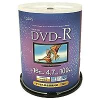 LAZOS DVD-R CPRM録画用 100枚 スピンドルケース入 L-C100PW
