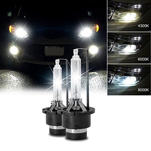 RCP HIDバルブ 車用ヘッドライト D4S/D4R汎用 純正交換 35W Xenon HID 6000K 発光色選択可能 明るさアップ 加工なし 2年保証 RCP-D4C