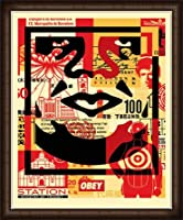 ポスター オベイ Obey Face 03 /手書きサイン入り 額装品 ウッドハイグレードフレーム(オーク)