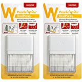Pearlie White OralPicks 110 Toothpicks in a Slim Case with Mirror, Pack of 2
