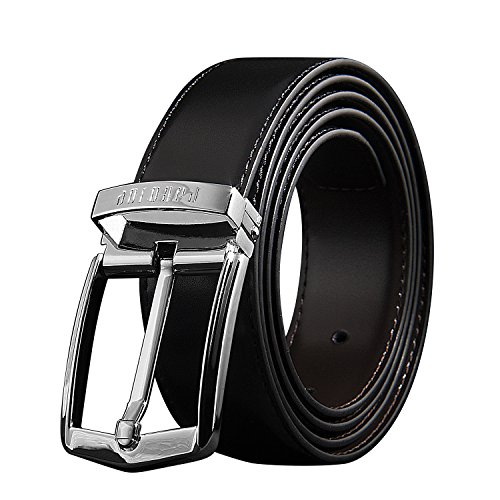 [パボジョエ]Pabojoe ベルト メンズ 本革 ブラック 115cm (s)