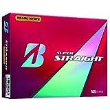 BRIDGESTONE(ブリヂストン) ゴルフボール SUPER STRAIGHT 1ダース( 12個入り) パールホワイト STGX