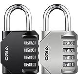 ORIA 4 Digit Combination Lock, 2 Pack Padlock for School, Employee, Gym & Sports Locker, Case, Toolbox, Fence, Hasp Cabinet & Storage