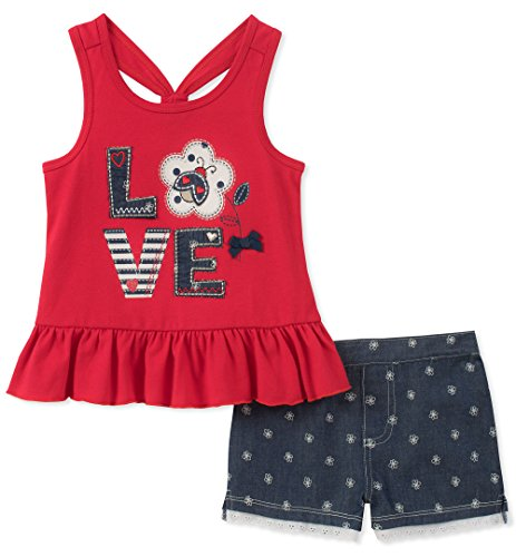 Kids Headquarters Baby-Girls 2 Pieces Shorts Set Shorts Set - red - 12 Months