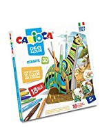Carioca 42901 - Create and Colour 3d Pop Up With 18 Markers extra-washable - Giraffe