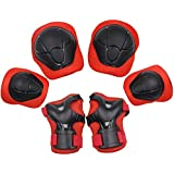 YOMYM Kids Knee Elbow Wrist Protective Guard Pads, BMX Inline Skating Scooter Rollerblade Cycling Skateboard Protective Gear