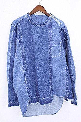 (サカイ)Sacai 【16AW】再構築デニムプオーバージップ長袖シャツ(4/ブルー) 中古