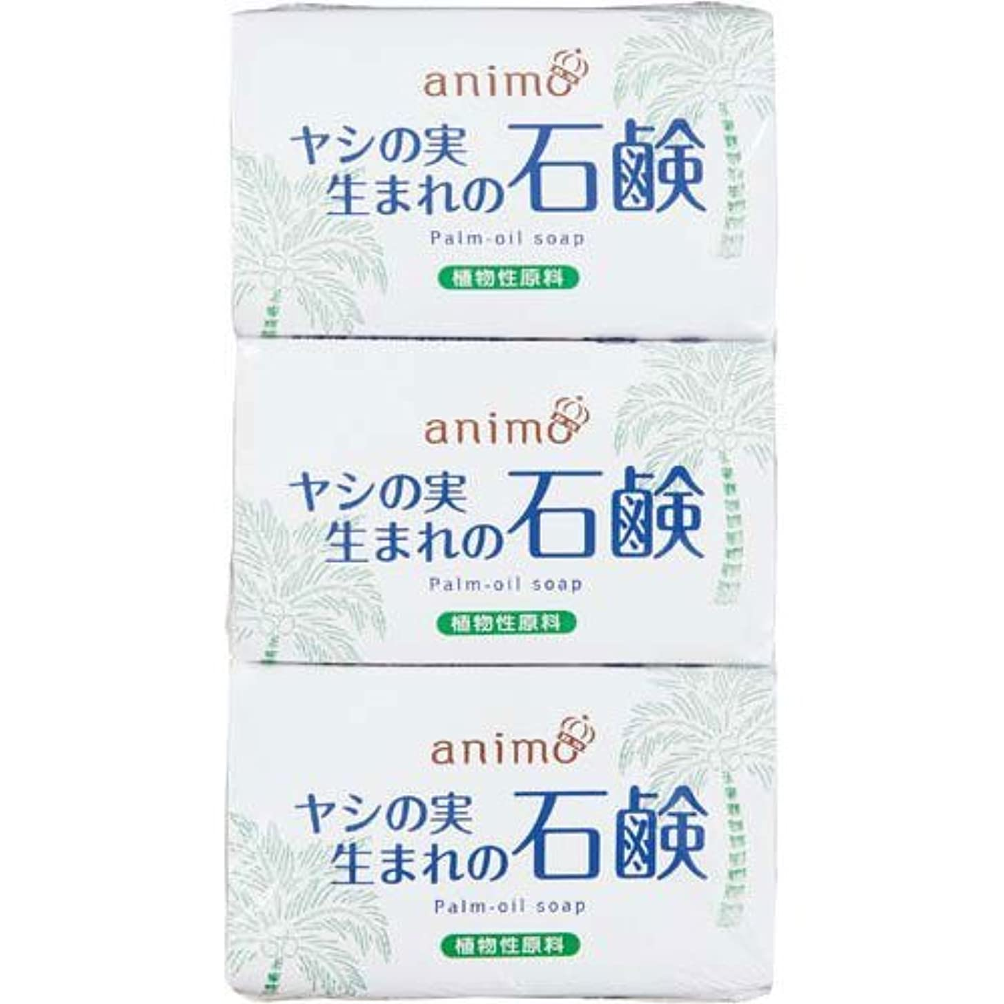 飼料管理する証明書ロケット石鹸 ヤシの実石鹸 80g×3個×5パック