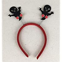 HuaQingPiJu-JP ハロウィーンヘッドバンドスモールヘッドドレスハロウィーン装飾用品(ブラックゴースト)