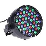 Lightess LED ステージライト 54led RGB DMX512 スポットライト ディスコライトカラオケ・クラブ・パーティー・演出・照明・舞台照明用