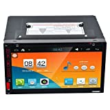 Swyss Quad Core HD 2Din 6.95 inch Car DVD Player, Multi-touch Screen Capacitive Vehicle Stereo Audio with GPS Function [並行輸入品]