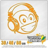 KIWISTAR - Smiley smilie with headphone 15色 - ネオン+クロム! ステッカービニールオートバイ