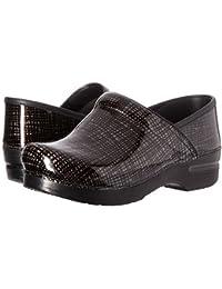 (ダンスコ) Dansko レディースクロッグズ?ミュール?スライド?靴 Professional Silver/Black Crisscross US Women's 11.5-12 26-26.5cm Wide [並行輸入品]
