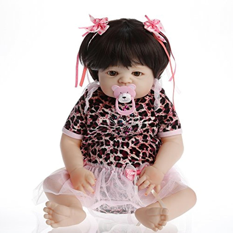 NPK collection Rebornベビー人形リアルな赤ちゃん人形ビニールシリコン赤ちゃん22インチ55 cm人形Leopard人形