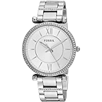 FOSSIL Women's ES4341 Year-Round Analog-Digital Quartz Silver Band Watch