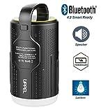 UPPEL ランタン LED ブルートゥース スピーカーライト 多機能 3-In-1 10400mAh ミニ 防水 モバイルバッテリー& Bluetooth 5つ調光モード アウトドア ポータブル [防災・キャンプ用品]