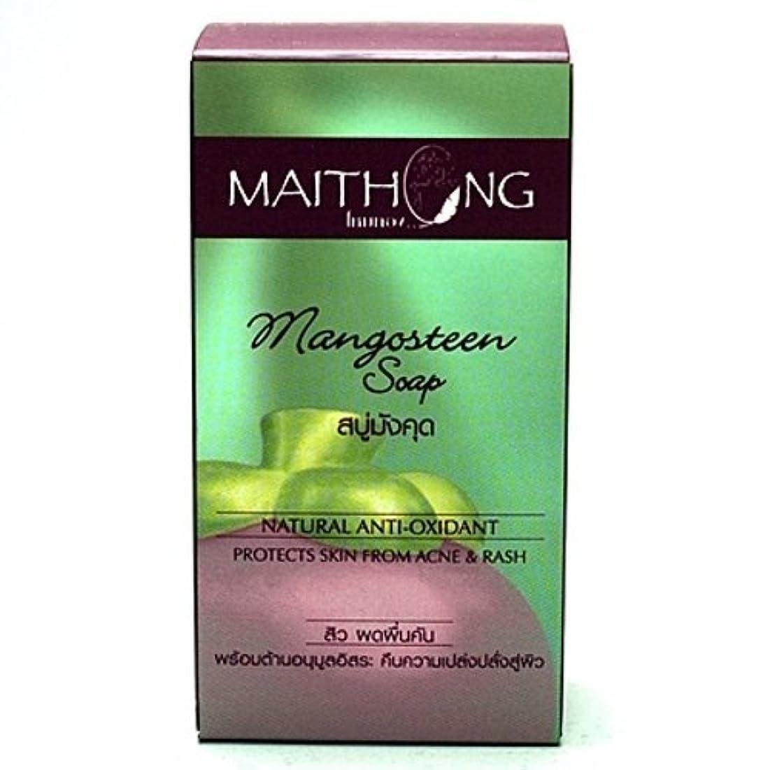 惑星真夜中ためらうMangosteen Soap Face and Body Wash Acne Rash Black Spot Spa Facial Soap Bar Natural Herb Scent by Maithong