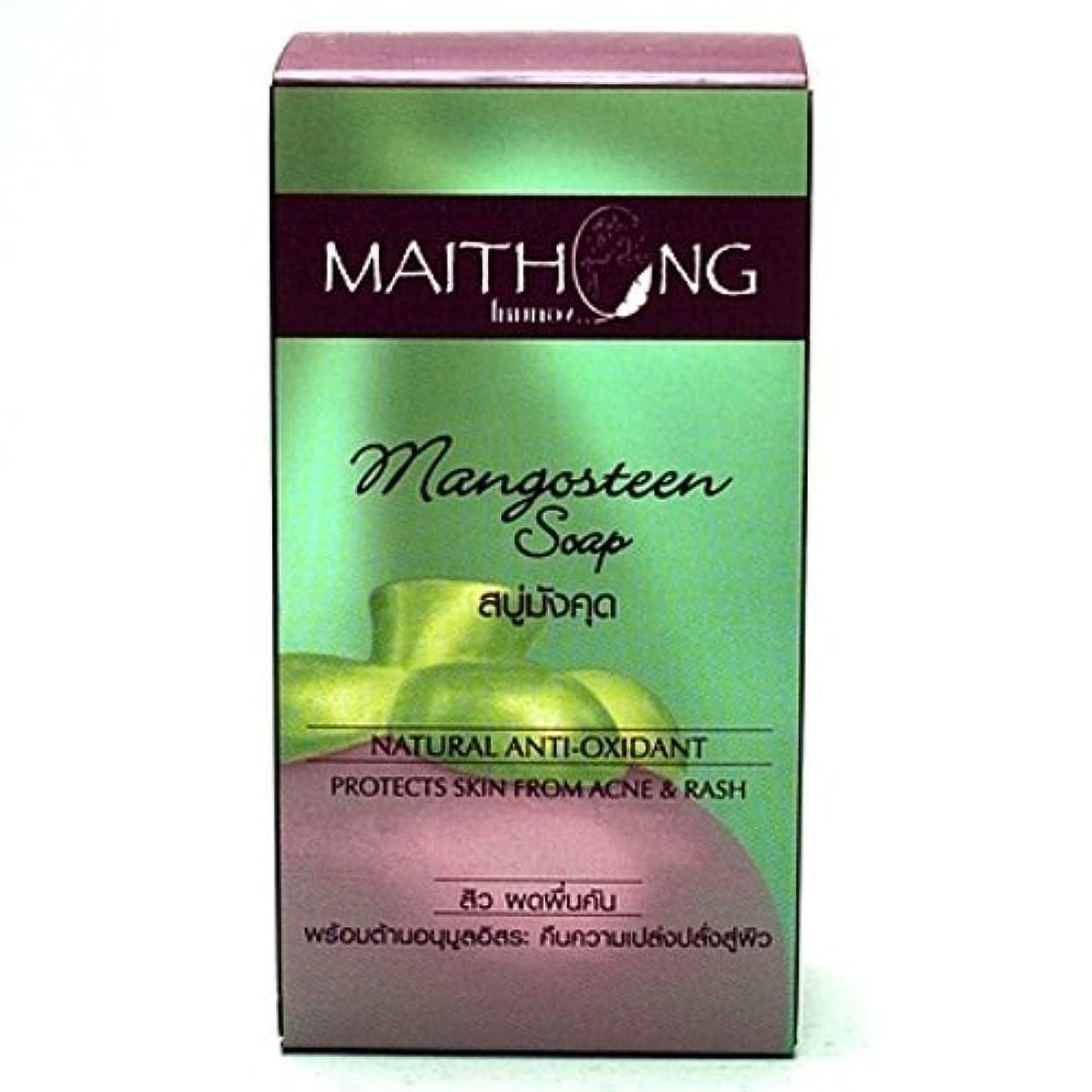 リブ発送成人期Mangosteen Soap Face and Body Wash Acne Rash Black Spot Spa Facial Soap Bar Natural Herb Scent by Maithong