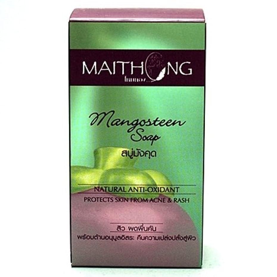 呪われたマントル分離するMangosteen Soap Face and Body Wash Acne Rash Black Spot Spa Facial Soap Bar Natural Herb Scent by Maithong