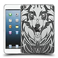 Head Case Designs ウルフ Animal Wood Prints ソフトジェルケース Apple iPad mini 1 / mini 2 / mini 3