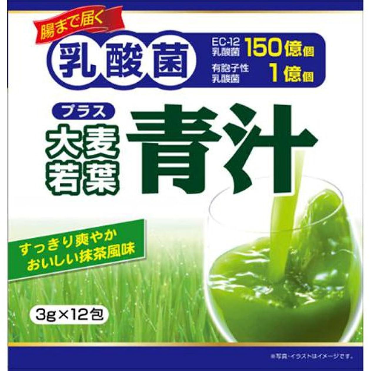 悪性雑多な拾うユーワ 乳酸菌プラス大麦若葉青汁 12包