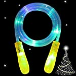 Kids Skipping Rope - AIICIOO Led Jump Rope Flashing Color Funny Toys Gift for Boys Girls Change Colorful Light