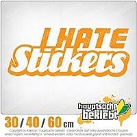 I hate stickers - 3つのサイズで利用できます 15色 - ネオン+クロム! ステッカービニールオートバイ