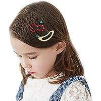 Tovadoo ヘアピン 女の子 子供用 フルーツ 3点セット りんご+バナナ+さくらんぼ 髪飾り 多色 かわいい おしゃれ 誕生日会 結婚式 イベント用