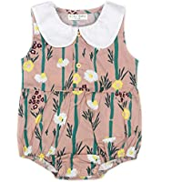 Newborn Infant Outfit Baby Girl Clothes Bodysuit Little Floral Romper Pink