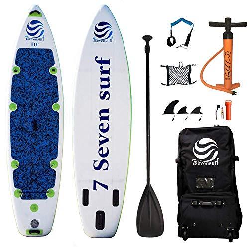 7sevensurf(セブンサーフ) サップボード スタンドアップパドルボード SUPボード 高強度 4層構造 立体 PVCストラップ方式 採用 (11フィート(ロング))
