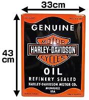【Harley-Davidson】 デザインティンプレート・Oil Can Rectangle