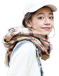 【ANION】マフラー 大判 レディース チェック ストール ロング 厚手 男女兼用 冬 5 color