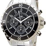 [テクノス]TECHNOS T3032TB クロノグラフ ステンレス×セラミック クォーツ ブラック メンズ腕時計