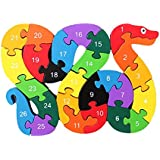 RETYLY アルファベットパズル3Dウッド子供教育ゲーム動物スネークおもちゃギフト